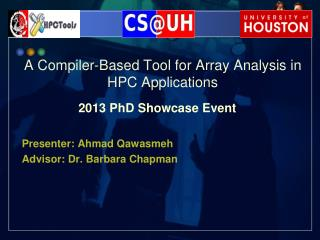 A Compiler-Based Tool for Array Analysis in HPC Applications