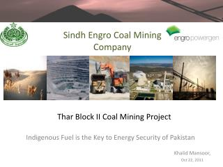 Thar Block II Coal Mining Project