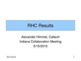 RHC Results