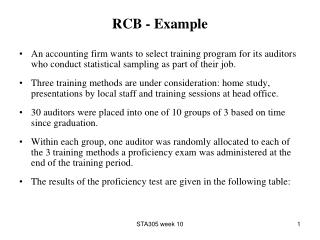 RCB - Example