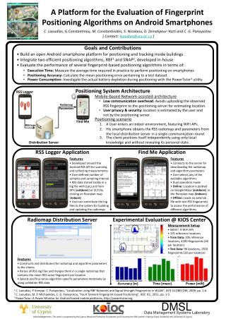 A Platform for the Evaluation of Fingerprint  Positioning Algorithms on Android Smartphones