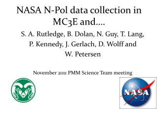 NASA N-Pol data collection in MC3E and….
