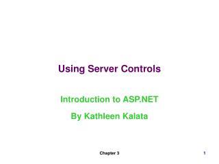 Using Server Controls
