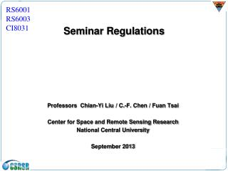 Seminar Regulations