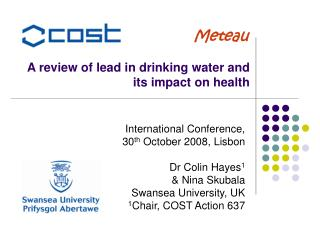 A review of lead in drinking water and  its impact on health