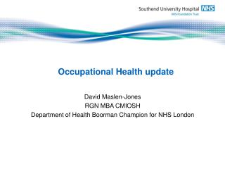 Occupational Health update