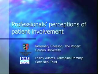 Professionals� perceptions of  patient involvement