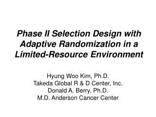 Phase II Selection Design with Adaptive Randomization in a Limited-Resource Environment