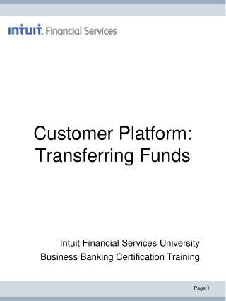 Customer Platform: Transferring Funds