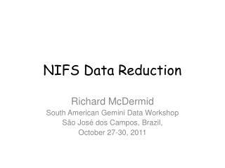 NIFS Data Reduction