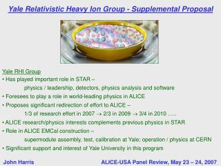 Yale Relativistic Heavy Ion Group - Supplemental Proposal
