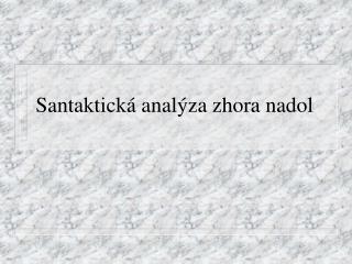 Santaktická analýza zhora nadol