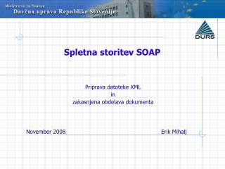 Spletna storitev SOAP