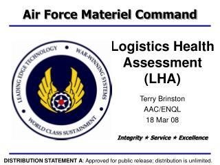 Logistics Health Assessment (LHA)