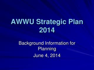 AWWU Strategic Plan 2014