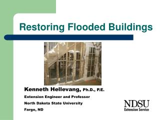 Restoring Flooded Buildings