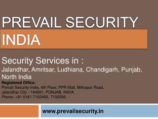 Best Security Agency in Jalandhar - Prevail Security India