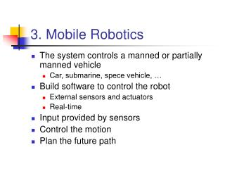3. Mobile Robotics