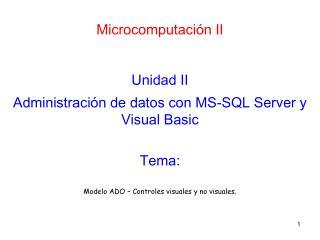 Microcomputación II