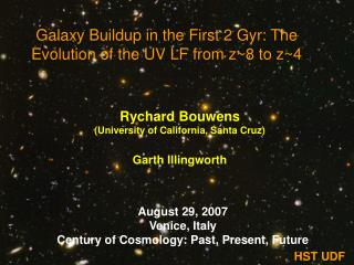 Galaxy Buildup in the First 2 Gyr: The Evolution of the UV LF from z~8 to z~4