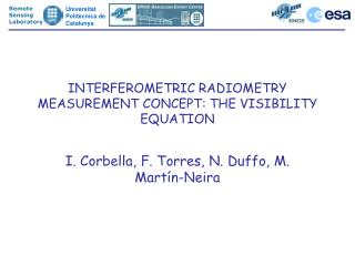 INTERFEROMETRIC RADIOMETRY MEASUREMENT CONCEPT: THE VISIBILITY EQUATION