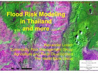 Flood Risk Modeling  in Thailand    and more