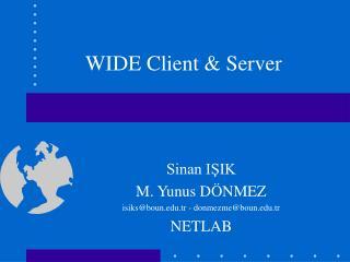 WIDE Client & Server