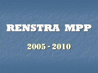 RENSTRA  MPP