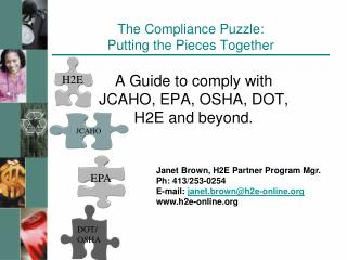 The Compliance Puzzle: Putting the Pieces Together