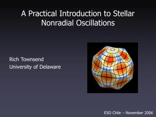 A Practical Introduction to Stellar Nonradial Oscillations