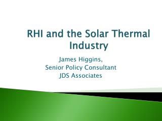 RHI and the Solar Thermal Industry