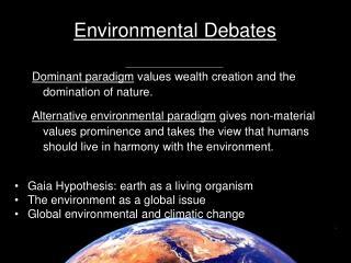Environmental Debates