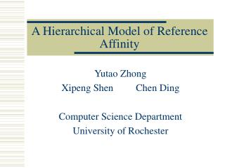 A Hierarchical Model of Reference Affinity