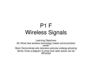 P1 F  Wireless Signals