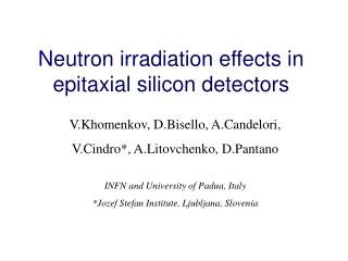 Neutron irradiation effects in epitaxial silicon detectors