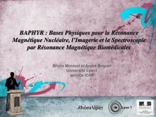 Bruno Montcel et André Briguet Université Lyon1 service iCAP