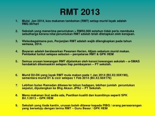 RMT 2013