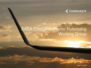 EASA Executive Interior Rulemakig Working Group