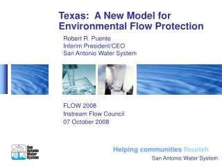 Texas:  A New Model for Environmental Flow Protection