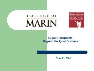 Legal Consultants  Request for Qualifications