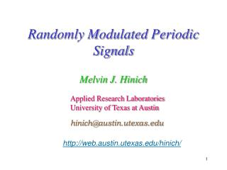 Randomly Modulated Periodic Signals