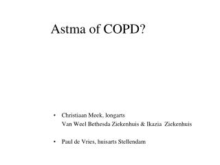 Astma of COPD?