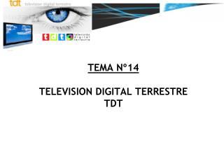 TEMA Nº14 TELEVISION DIGITAL TERRESTRE TDT
