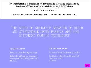 Nadeem Afraz Lecturer (Textile Engineering)