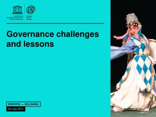 Governance challenges and lessons