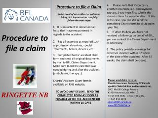 Procedure to  file a claim