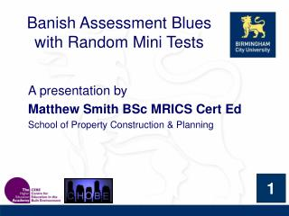 Banish Assessment Blues with Random Mini Tests