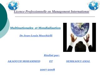 Licence Professionnelle en Management International