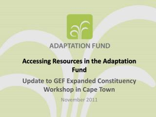Accessing Resources in the Adaptation Fund