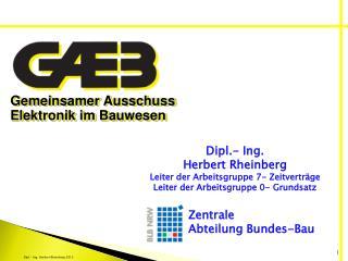 Gemeinsamer Ausschuss Elektronik  im  Bauwesen